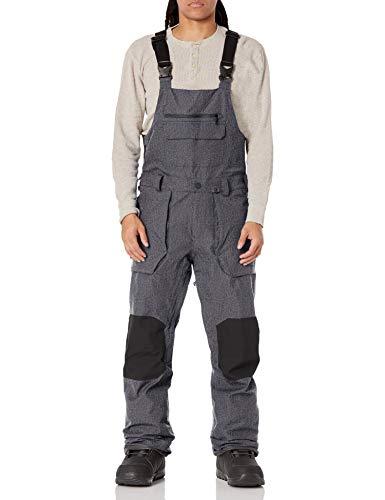 Volcom Men's Roan Bib Overall Snowboard Pant, BLACK STATIC, M