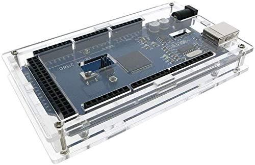 HiLetgo Mega 2560 Enclosure Case Kits Transparent Acryl Enclosure Case Mega 2560 Case Enclosure Box für Arduino Mega 2560 R3 5 Stück