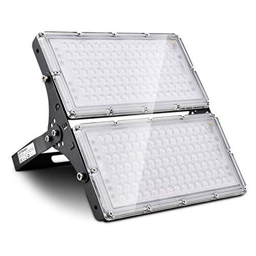 200W Focos LED Exterior Proyector LED Floodlight 16000lm Luz de Seguridad Impermeable IP65 3000K Blanco Cálido Reflector LED para Jardín Patio Estadio Cartelera [Clase Energética A+]