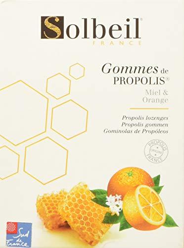 SOLBEIL - Gommes de Propolis Miel/Orange - Adoucit naturellement la george - 45g