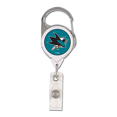 WinCraft NHL San Jose Sharks 47947011 Retractable 2S Prem Badge Holders