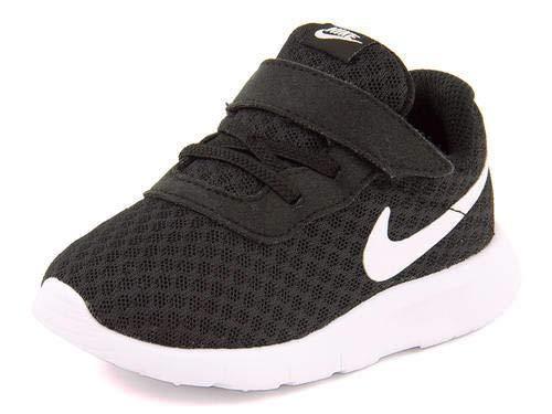 Nike Kid's Tanjun Running Shoe, Black/White-white, 6 Toddler
