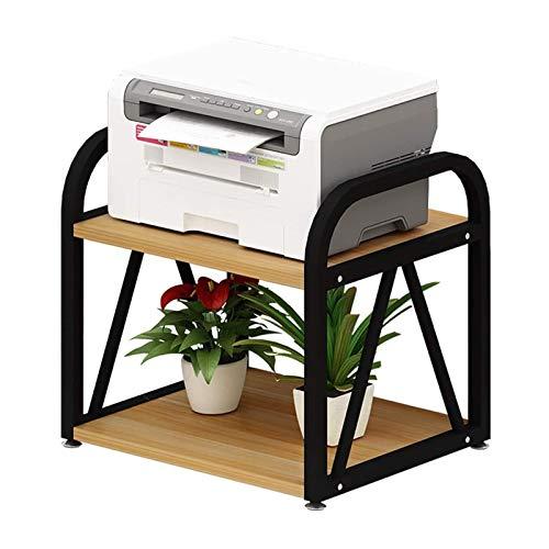 HLWAWA Printer Desk/Multi-Purpose Desk Organizer Double Layer Multi-Purpose Printer Stand Desktop Stand Desktop Storage Rack for Mini 3D Printer Fax
