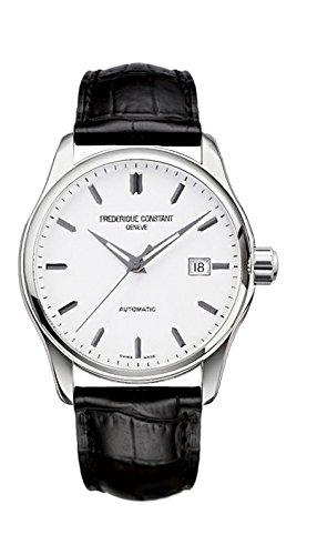FREDERIQUE CONSTANT Unisex Datum Norm Automatik Uhr mit Leder Armband FC-303S5B6