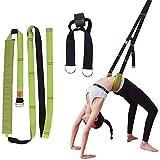 I-WILL Yoga Fitness Back Bend Assist Trainer, Improve Leg Waist Flexibility, Door Portable Stretching Strap for Rehab, Pilates, Ballet, Dancing, Cheerleading, Splits, Gymnastics - Green