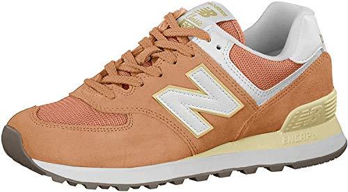 New Balance WL574 Zapato mujer, Naranja, 37 EU
