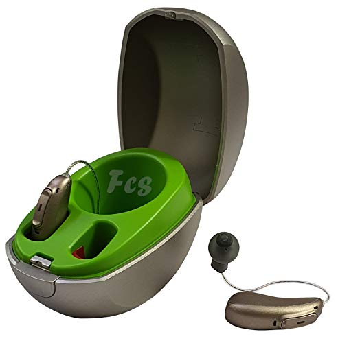 FCS Audeo M50-R Digital 12 Channel Rechargeable Bluetooth Enabled RIC, Left & Right with Mini Charger & TV Connector.(Audiometry Report Required- Strictly Non-Returnable).