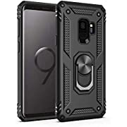 Amuoc Compatible with Samsung Galaxy S9 Case,Amuoc [ Military Grade ] 15ft. Drop Tested Protective Kickstand Case -Black