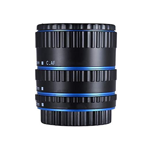Absir Metal Mount Lens Adapter Auto Focus AF Macro Extension Tube Ring for Canon EOS EF-S Lens 750D 80D 7D T6s 60D 7D 550D 5D Mark IV blue