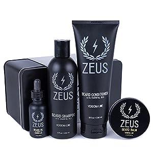Zeus Men's Everyday Beard Grooming Kit – Beard Shampoo & Conditioner, Beard Oil & Balm, Beard Wash, Smooth & Shiny Beard… 7