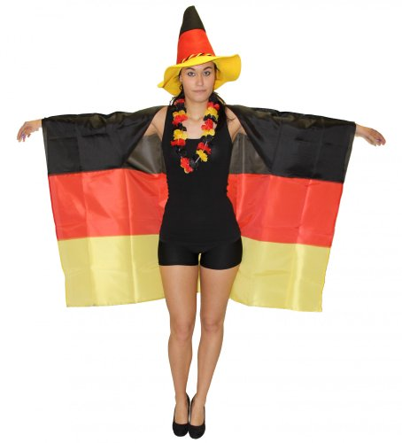 Deutschland Fan Fahne zum Anziehen für die WM 2018 EM 2020 Fan Fanartikel Party Flagge Germany Party