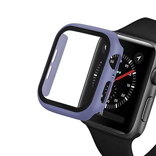 Protector de pantalla compatible con Apple Watch Series 3/2/1 44 mm 40 mm con, KJDS IWatch Series 6/5/4 42 mm 38 mm Protector de pantalla de vidrio templado integrado