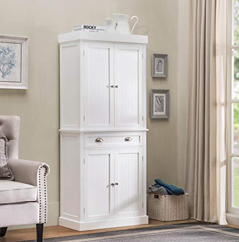 2L Lifestyle Ashlyn Cabinet White Finish, Large