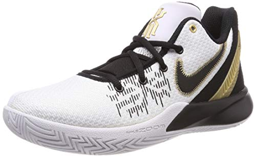 Nike Men's Kyrie Flytrap II Zoom cushioning Basketball Shoes ( White/Black / #95 )