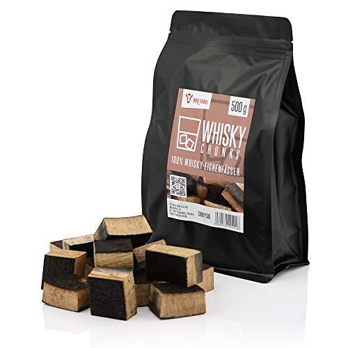 BBQ-Toro Trozos de Madera de Roble Whisky | 500 g | Ahumar | Ahumado de Barbacoa | para Parrilla de Gas | Fumadores | Virutas