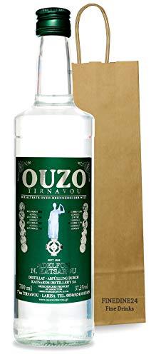 Premium OUZO | Uzo aus Griechenland (USO) | Anis likör | Anis schnaps | mild | Geschenk | 1x 700ml Glas Flasche