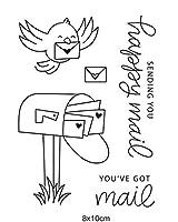 鳥と封筒透明クリアシリコンスタンプ/DIYスクラップブッキング用シール/フォトアルバム装飾用クリアスタンプシートB052