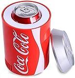 Nevera portátil de coche, mini-nevera con Coca-Cola lata, nevera portátil para el coche, refrigerador inteligente, carga por USB, integrado semiconductor de enfriamiento para la oficina o en la barra