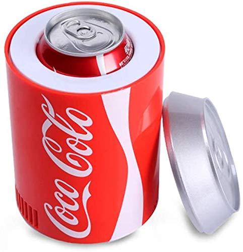 Frigorifero portatile dell automobile, mini-frigorifero con coke lattina, frigo portatile per la macchina, dispositivo di raffreddamento intelligente, USB, raffreddamento per ufficio o bar integrato
