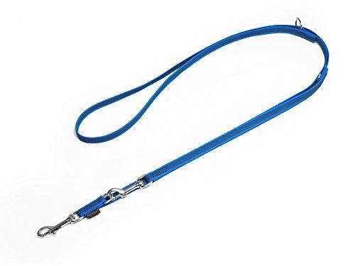 Mystique® Gummierte Umhängeleine Leine 12mm Standard Karabiner blau 2,5m