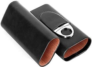 Zigarren-Aufbewahrungskoffer Outdoor f/ür unterwegs Mini-Zigarrenetui Leder-Zigarrenbeh/älter Tragbarer Humidor