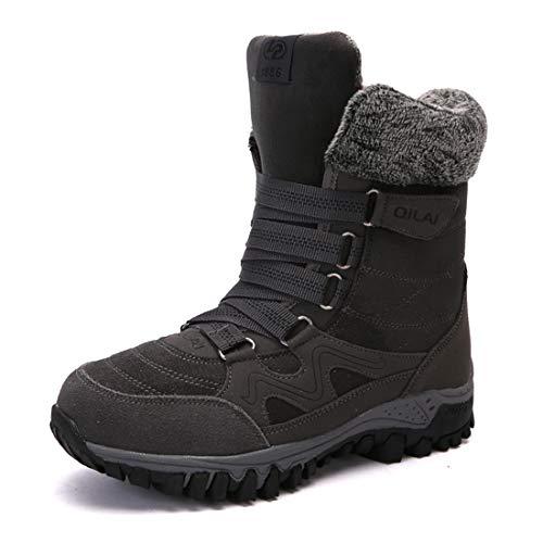 NIIVAL winterlaarzen dames sneeuwlaarzen vrouwen schoenen boots met voering comfortabel snoeren lange schacht laarzen maat 35-42