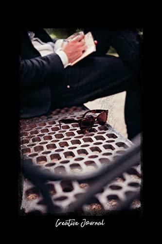 Fantastic Creative Journal Dot Grid Journal People Man Sitting Alone Steel Metal Bench Black Dotted Diary Planner Gratitude Writing Travel Goal Ibusinesslaw Wood Chair Design Ideas Ibusinesslaworg