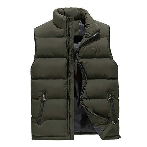 Chaleco Casual para Hombre otoño e Invierno Chaleco Grande para Hombre en Chaleco de algodón cálido