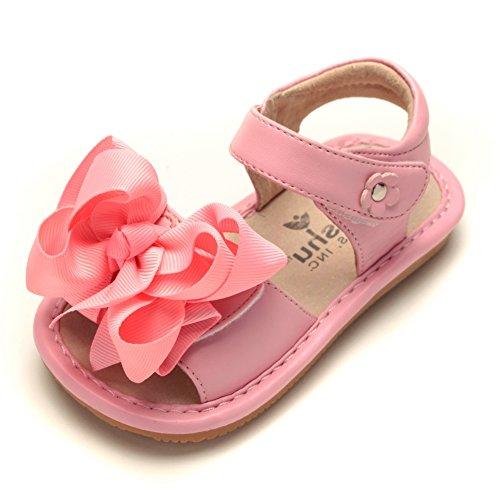 Mooshu Trainers Baby Girl's Bow Sandal 8 Pink