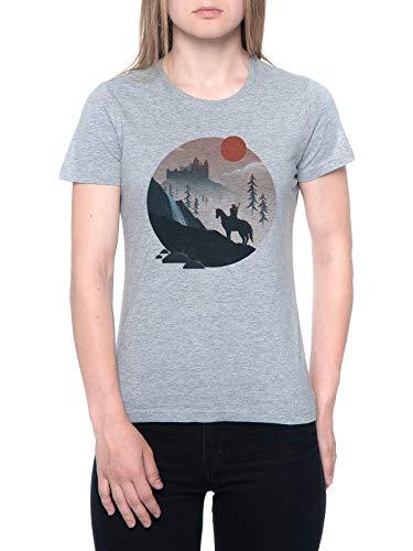 Geralt En los Paseo Camiseta Mujer Gris T-Shirt Women's Grey