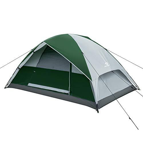 Bessport Tenda da Campeggio 2 posti, Impermeabile a Due Porte con Borsa per Il Trasporto Facile da Montare, Tende per Zaino in Spalla per Viaggi di Coppia