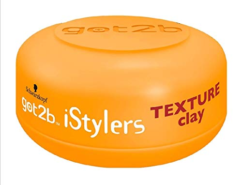 Got2b iStylers Texture Clay, 2er Pack (2 x 75 ml)
