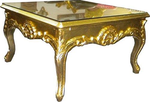 Casa Padrino Barock Couchtisch 70 x 70 cm Gold - Couch Tisch - Wohnzimmer Tisch - Beistell Tisch - Möbel