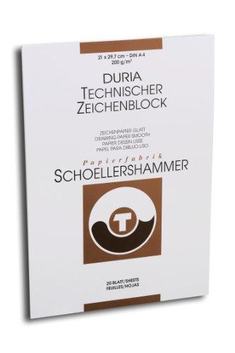 Schoellershammer Zeichenpapier DIN A4, 1 Block, 20 Blatt, 200 g/m²