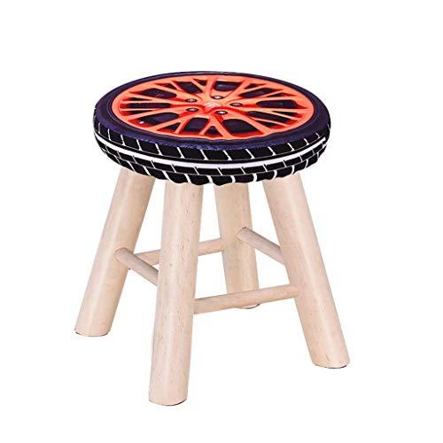 YLCJ voetensteun, comfortabele voetenbank van massief hout van hoge kwaliteit. Comfortabele kruk, bekleed, ladekast, hoogte 35 x 28 cm, inhoud 100 kg. #5