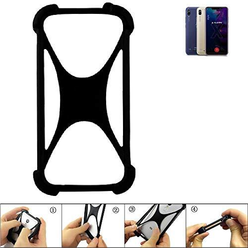 K-S-Trade® Handyhülle Für Allview Soul X5 Style Schutz Hülle Silikon Bumper Cover Case Silikoncase TPU Softcase Schutzhülle Smartphone Stoßschutz, Schwarz (1x),