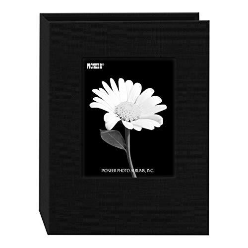 Pioneer Photo DA-57CBF/BK 24-Pocket Frame Cover Album for 5 by 7-Inch Prints, Deep Black Fabric