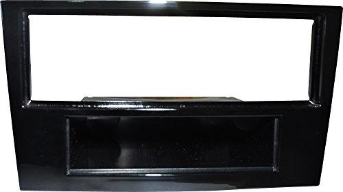 Mascherina montaggio autoradio 1 DIN Colore NERO LUCIDO.