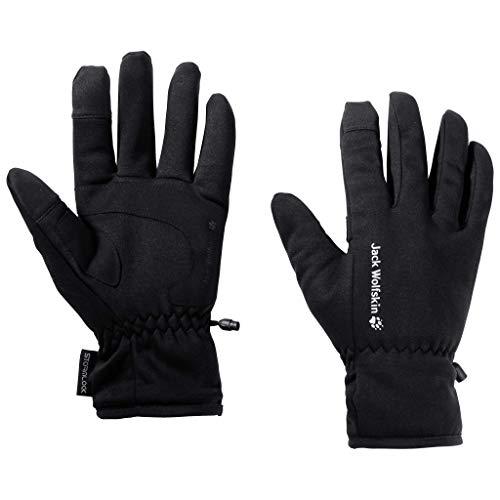 Jack Wolfskin STORMLOCK HYDRO GLOVE touchscreenfreundliche Handschuhe, black, M