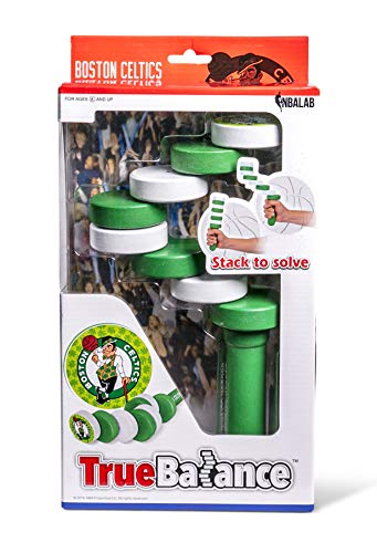 TrueBalance NBA Coordination Game Balance Toy for Adults and Kids | Improves Fine Motor Skills | Boston Celtics | Handheld Toy for Focus & Concentration