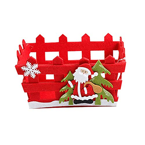 Jiacheng29 Christmas Santa Claus Snowman Non-woven Candy Fruit Storage Basket Party Gift
