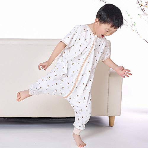 Unisex baby sleeping bag 0-18 months, summer and autumn, cotton, sweat absorption, breathable, kick-proof, split legs, thin Baby Swaddle Baby blanket Children's sleeping bag