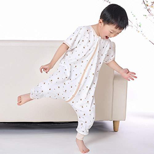 Sac De Couchage Safe Sleep Baby 0-18 Mois, Été Et Automne, Coton, Absorption De La Transpiration, Respirant, Protection Contre Les Coups De Pied, Jambes Fendues, Fin