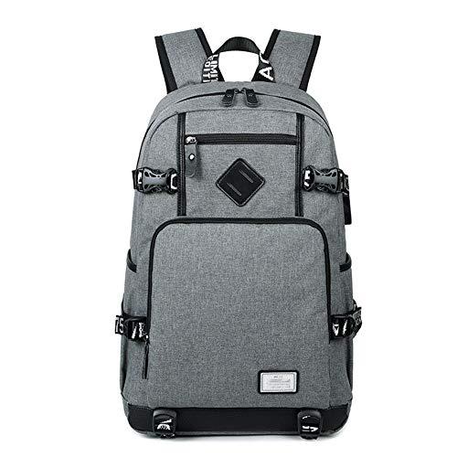 Grote reizen capaciteit rugzak Casual Backpack, Student Bag, met grote capaciteit Laptoptas, Business rugzak met USB-poort opladen waterdichte rugzak (Color : Gray, Size : One size)