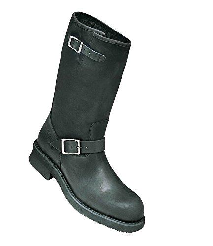 Ledershop-online 'Engineer-motief Oldtimer Outdoor-Moto laarzen 31 cm van de schacht rundleer Noir-Taille 36 41 EU zwart