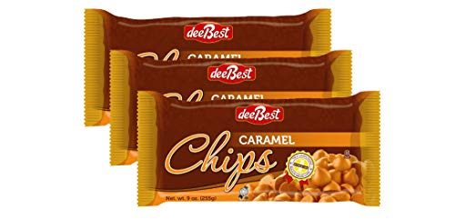 Dee Best Vegan Caramel Chips | Great for Baking and Melting | Non-dairy 9oz (Pack of 3) Kosher