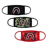 3-Pack Shark Face Mask,Cotton Fashion Anti-dust Bape Half Face Mouth Mask for...