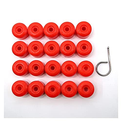 YIKXCF 20pcs Tuerca de Rueda de automóvil Tapas de Tuerca Perno Rims Socket Especial Auto Hub Tornillo Protección Protección 17mm Estilo de automóvil Decoración Exterior (Color Name : Red)