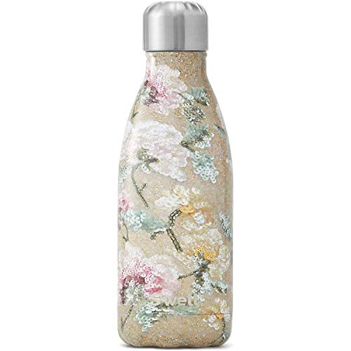 S'well Triple-Layered Vacuum-Insulated Containers Stainless Steel Water Bottle, 9 Fl Oz, Vintage Rose