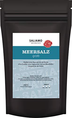 Mediterranes Meersalz grob für die Salz Mühle geeignet, frei von Zusätzen ohne zugesetztes Jod oder Rieselhilfe | Saliamo (1000)